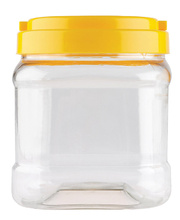 Clear Storage Jar + Cap - 1.5L (Suits 1kg Glitter)